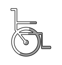 grayscale silhouette with icon of wheelchair vector image