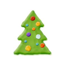 hand made christmas tree vector image