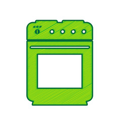 stove sign lemon scribble icon on white vector image vector image