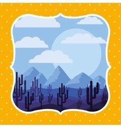 beautiful landscape frame design vector image