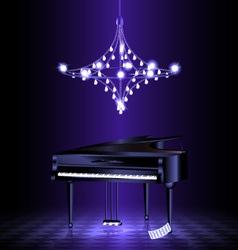 piano in the dark room vector image