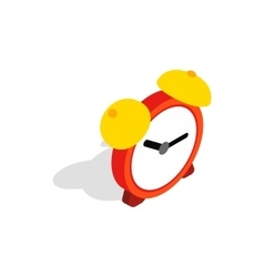 Alarm clock icon isometric 3d style vector image vector image