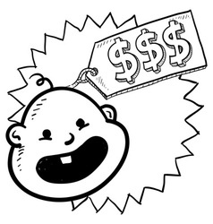 Expensive baby vector image vector image