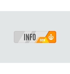 Info button - information sign icon vector image