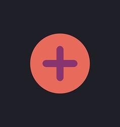 Plus computer symbol vector image