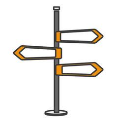 traffic signal arrows icon vector image