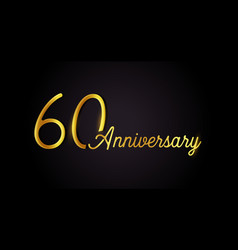 60 anniversary logo concept 60th years birthday vector
