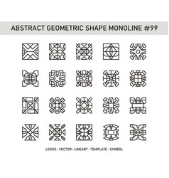 Abstract geometric shape monoline 99 vector