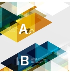 Abstract triangles and lines vector
