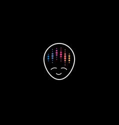 Audio meditation affirmation logo concept disco vector