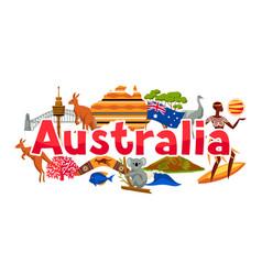 Australia banner design australian traditional vector