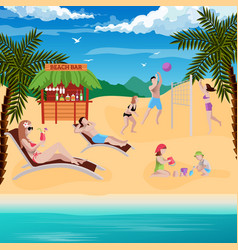 beach bar vacation composition vector image