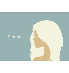 Blonde girl in profile vector