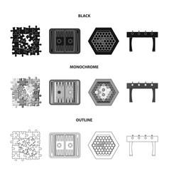 Board game blackmonochromeoutline icons in set vector