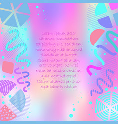 bright colorful poster with abstract shapes vector image