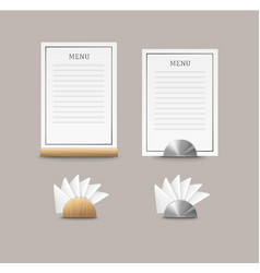 Cafe menu cards vector