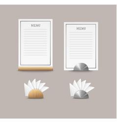 cafe menu cards vector image