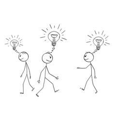 cartoon group or crowd menbusinessmen or vector image