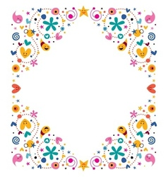 Celebratory happy cartoon frame design element vector