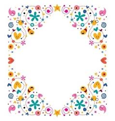 celebratory happy cartoon frame design element vector image