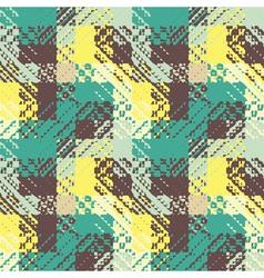 Checked geometric print vector
