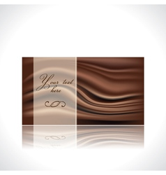 Chocolate card vector