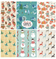 Christmas pattern set vector