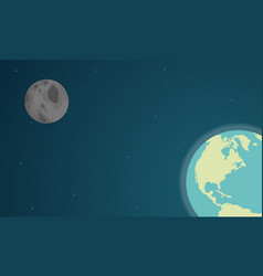 collection stock of world on space design vector image