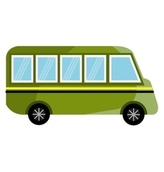 colorful bus truck graphic vector image