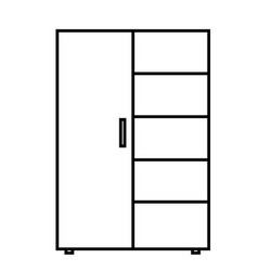 cupboard with shelf icon vector image