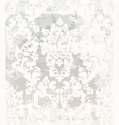 damask pattern vintage baroque ornament vector image
