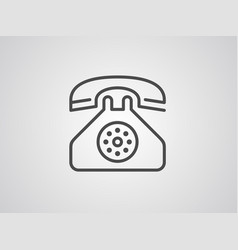 desk phone icon sign symbol vector image