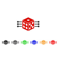 dice links icon vector image