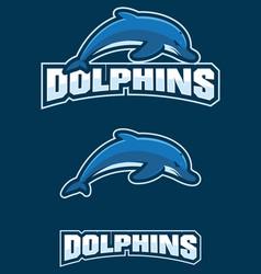 dolphins mascot logo vector image