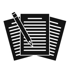 Edit education papers icon simple style vector