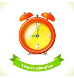 Education icon alarm clock vector