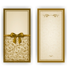 Elegant template for luxury invitation card vector image