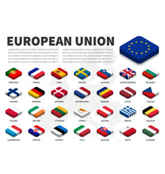 European union eu flag and membership on vector