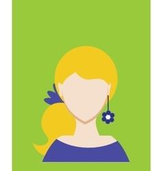 Female avatar or pictogram for social networks vector image