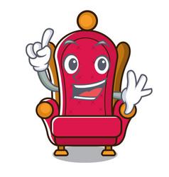 finger king throne mascot cartoon vector image