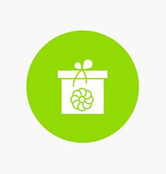 gift box flower spring vector image