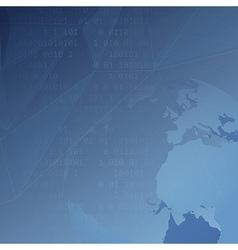 Global internet background template vector