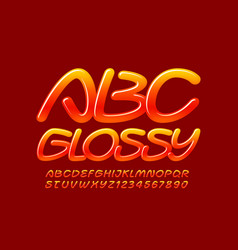 glossy font sweet alphabet letters vector image