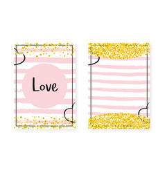 gold glitter sequins with dots wedding and bridal vector image