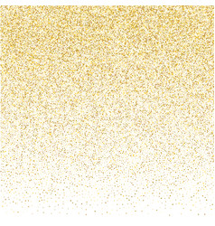 golden small confetti on white background vector image
