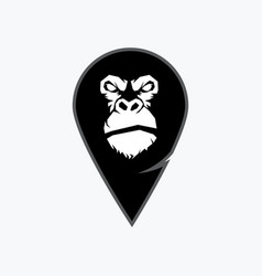 Gorilla head monkey head ape face vector