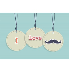 Hanging Vintage badges set vector image