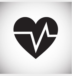 Heart rate pulse on white background vector