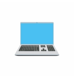 Laptop icon in cartoon style vector image