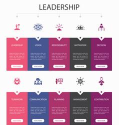 Leadership infographic 10 steps ui design vector